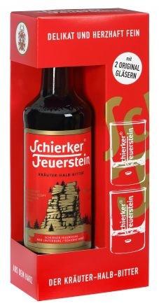 Schierker Feuerstein 0,7l + 2 Shot Gläser