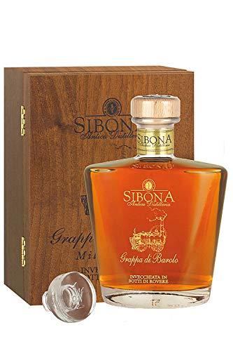 Sibona Grappa Barolo Special Reserve in Holzkiste limitiert Italien 0,7 Liter