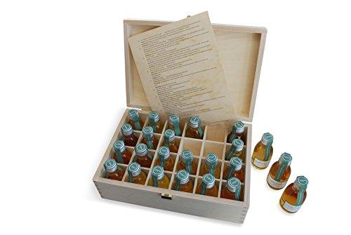 Adventskalender Whisky in der edlen Holz Geschenkbox  24 exklusive Whiskysorten