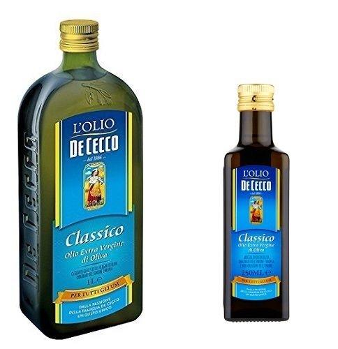 1x De Cecco Classico Natives Olivenöl Extra Olio Extra Vergine 1 Lt nativ + 1x De Cecco Classico...