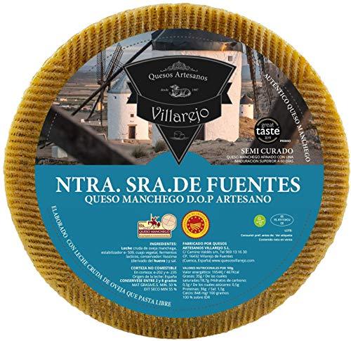Manchego Käse 2-3 Monate gereift, 1.1 kg, Schafskäse aus 100% pasteurisierter Manchego...