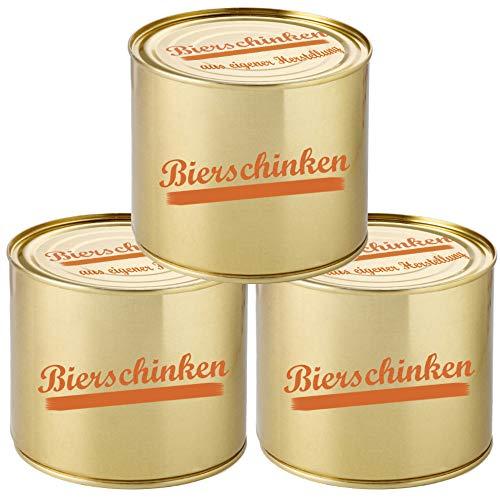 Bierschinken Wurtskonserve 3er Set 200g Dosenwurst Wurst Spezialität Konservenwurst traditionell...