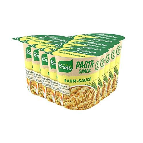 Knorr Pasta Snack Rahm Sauce leckeres Nudelgericht fertig in nur 5 Minuten - 8 x 62 g Becher -, 496...