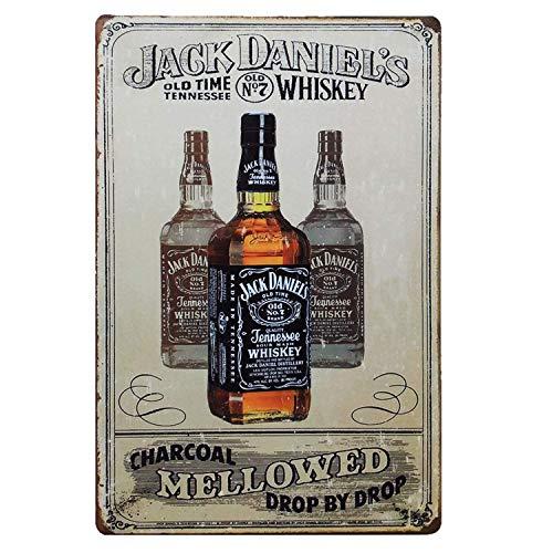 RABEAN Jack Daniels Blechschilder Aluminium Schilder Eisen Malerei Blech Plakat Warnung Plakette...