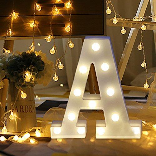 sunnymi Alphabet LED Brief Lichter leuchten weiße Kunststoff Buchstaben Stehen Hängen A bis Z &...