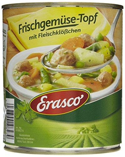Erasco Frischgemüse-Topf mit Fleischklößchen (1 x 800 g Dose)