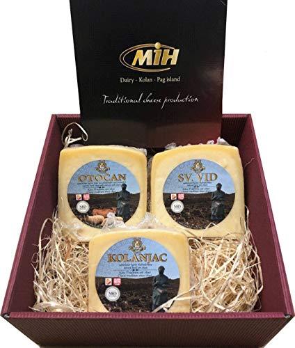 Geschenkbox mit 900 Gramm vom besten Pager Käse der Insel Pag Delikatessen Geschenkkorb Set aus...