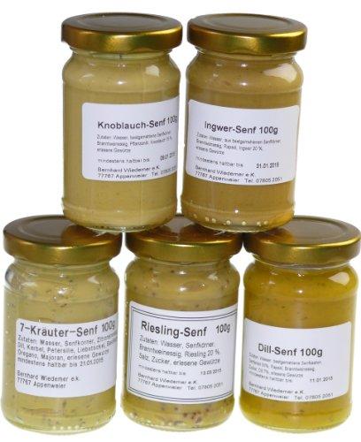Wiedemer - Gourmet Senf Set 'Gourmet' fünf unserer beliebten Senf-Variationen von süß bis scharf...