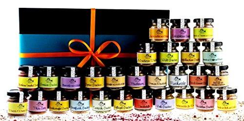 Gewürzbox mit 28 verschiedenen Spezialitäten in der Geschenkschachtel aus der Finca Marina...