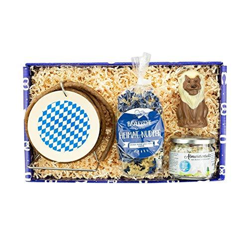 Bavariashop Geschenkbox 'Lass da schmecka', Hochwertige Geschenkbox mit Delikatessen aus Bayern,...