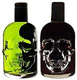 Absinth Skull Totenkopf Grün & Schwarz Mit maximal erlaubtem Thujon 35 mg/L 2x0,5L 55% Vol