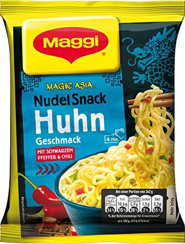 Maggi Magic Asia Nudel Snack Huhn, leckeres Fertiggericht, Instant-Nudeln, mit Hühnchen-Geschmack,...