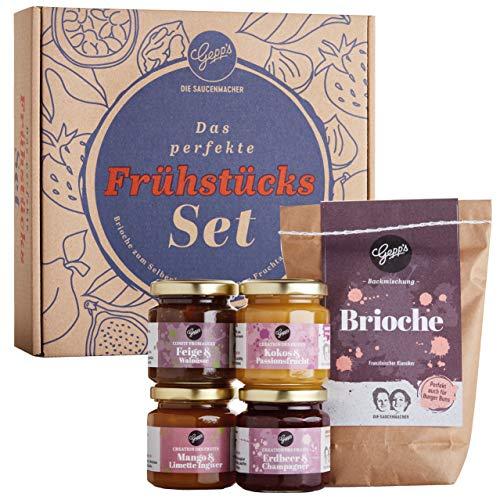 Gepp's Feinkost Französisches Frückstücks-Set I Gourmet Geschenkset aus Fruchtaufstrichen und...