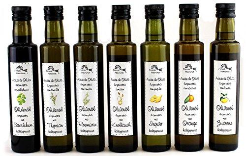 Gourmet-Ölselektion mit 7 verschiedenen Spezialitäten aus der Finca Marina Gewürzmanufaktur