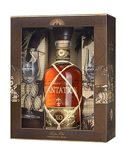 Plantation Barbados XO Extra Old 20th Anniversary mit Geschenkverpackung mit 2 Gläsern Rum (1 x 0.7...