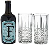 FERDINAND'S G+T Highball Set 1x Saar Dry Gin 50 cl + 2x Nachtmann Highland Diamond Highball Glas...