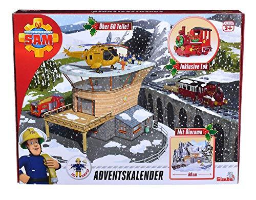 Simba 109251037 - Feuerwehrmann Sam Adventskalen/ Mit großer Spielszenerie / Mit...