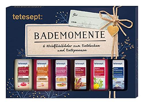 tetesept Bäder Geschenkset Bademomente – Badezusatz Probierset mit Geschenkanhänger - das ideale...