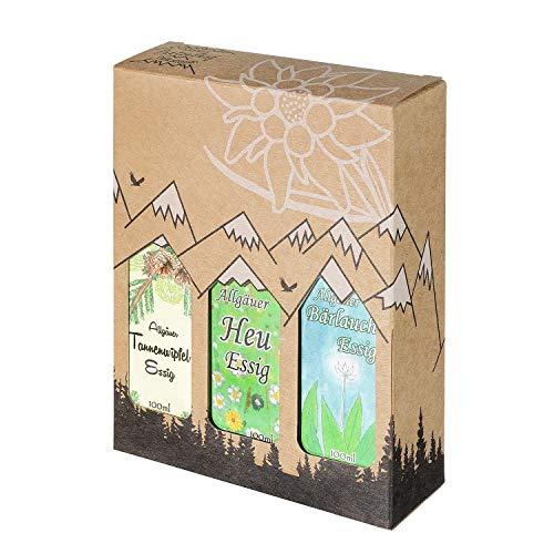 Allgäuer Genuss-Box - Feinkost Geschenk-Set - 3 x 100ml feinster Essig - Allgäuer Delikatessen mit...