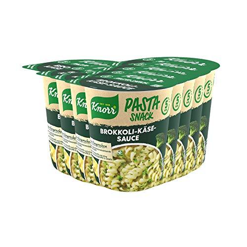 Knorr Pasta Snack Brokkoli-Käse-Sauce leckeres Nudelgericht fertig in nur 5 Minuten - 8 x 62 g...
