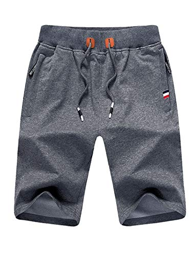 Tansozer Kurze Hose Herren Shorts Sommer Jogginghose Kurz Baumwolle Gym Sweat Shorts Herren Sport...