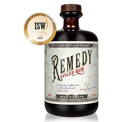 Remedy Spiced Rum (1 x 0,7 l) - Gold Meinigers International Spirits Award 2019 - Feine Noten von...