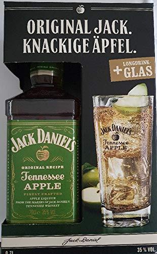 1 Geschenkpackung Jack Daniel´s Apple a 0,7 L 35% vol. inklusive Glas