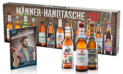 KALEA Männerhandtasche XXL, 12 Biere von Privatbrauereien aus Deutschland, Geschenk zum Geburtstag...