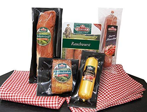 Wurstpaket Geschenk   Schinken Salami Set   Lende geräuchert Leberwurst Preiselbeeren   BBQ...