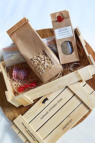 Selfmade Schinken Kiste ★ Starterset zur Schinkenherstellung mit Räucherkit ★ Geschenkidee ★...