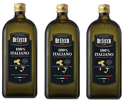 3x De Cecco 100% Italiano olio Extra vergine Natives Olivenöl 750 ml nativ