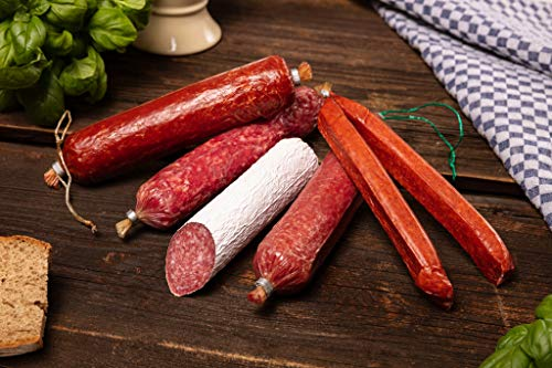 WURSTBARON® - Feinschmecker Salami Wurst Probierpaket aus Bayern mit bayerischen Spezialitäten - 4...