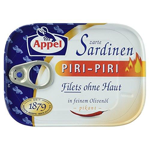 Appel Sardinenfilets Piri-Piri, 1er Pack Konserven, Fisch in Olivenöl pinkant
