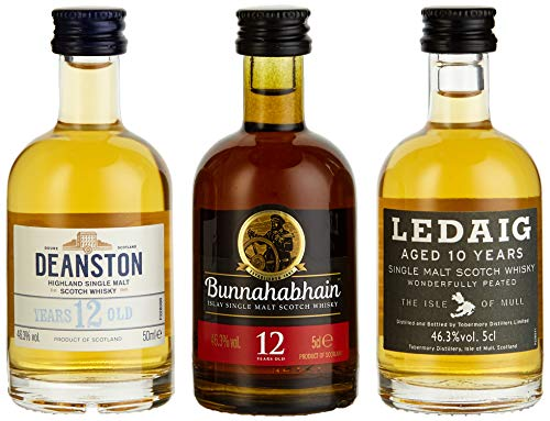 Miniaturenset Single Malts – Eine Schottische Whiskyreise – Bunnahabhain, Deanston und Ledaig (3...