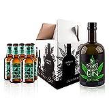 Breaks Cannabis Gin - Genießer Set - 1 x 0,5 L Flasche Breaks Gin Cannabis + 5 Flaschen Aqua Monaco...