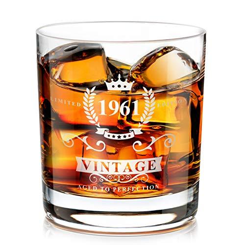 Geburtstagsgeschenk für Männer zum 60., Whiskey Gläser mit Gravur 1961, Whisky Lovers Geschenk...