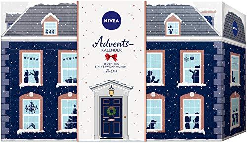NIVEA Adventskalender 2019 für 24 Verwöhnmomente, Weihnachtskalender mit ausgewählten...