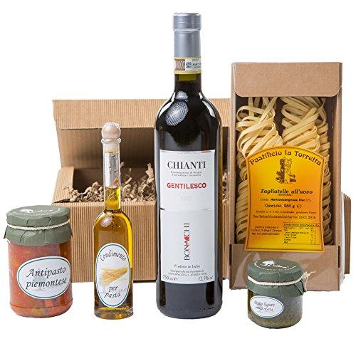 "Geschenk-Set Präsentkorb ""Tavola Italiano"" mit italienischen Spezialitäten: Piemonteser..."