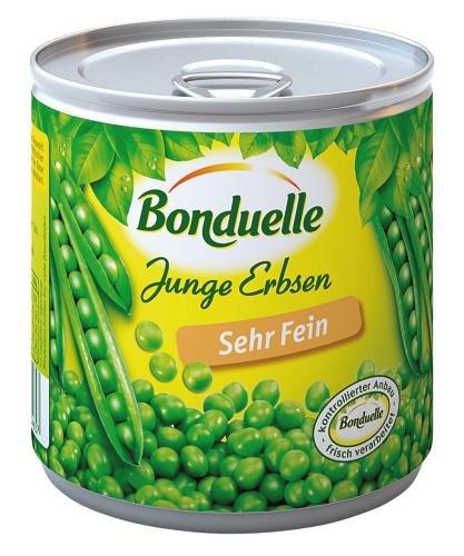 Bonduelle Erbsen sehr fein, 12er Pack (12 x 425 ml Dose)