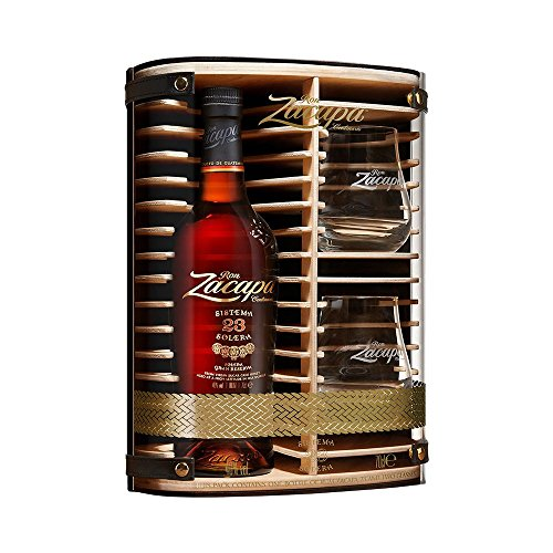 Zacapa Rum Solera Sistema 23 Centenario in Hochwertiger Holz - (1 x 0,7 l) Geschenkbox mit 2...