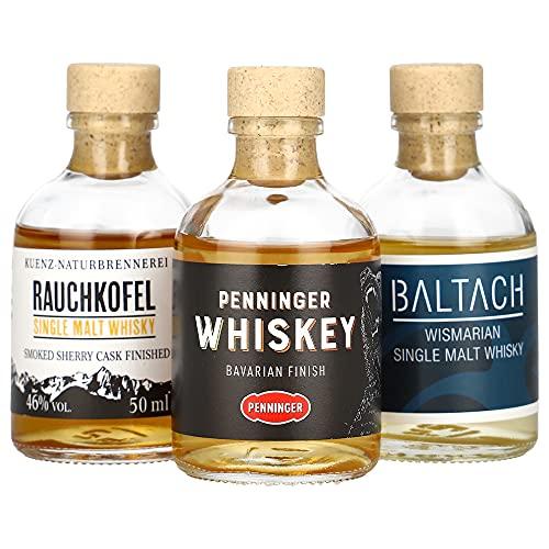 Foodist Whisky Tasting Probierset Miniaturflaschen (3 x 50ml) Single Malts von Baltach, Penninger...