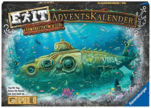 Ravensburger EXIT Adventskalender 2020 - Das gesunkene U-Boot - Ideal für Escape Room-Fans: 24...