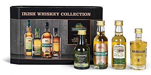 Kilbeggan Irish Whiskey Collection (5cl Greenore Single Grain Whiskey 5cl Kilbeggan Traditional...