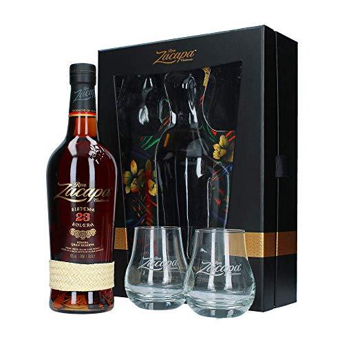 Ron Zacapa Solera Gran Reserva Sistema 23 Jahre, 2 Gläser, Geschenkbox, 0,7 L