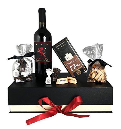 Edles Geschenkset Purer Genuss mit Premium-Toskana Rotwein und italienischen...