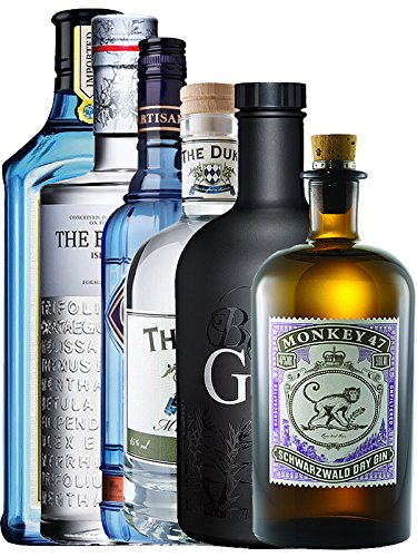 Mega Gin Set 1 x Bombay Sapphire Gin 0,7 Liter, 1 x The Botanist Islay 0,7 Liter, 1 x The Duke Dry...