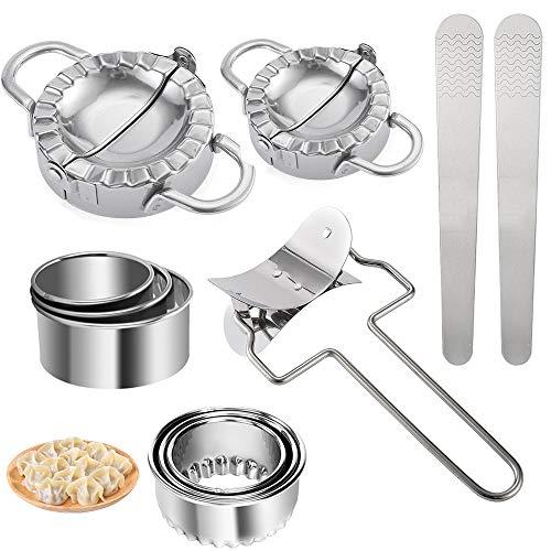 ConBlomi 11 Stück Dough Press Set, Edelstahl Dumpling Maker, Knödel-Hersteller, Ravioli...