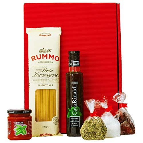 Geschenkset Neapel | Italien Geschenkkorb gefüllt mit Pasta, Feinkost & italienische Spezialitäten...