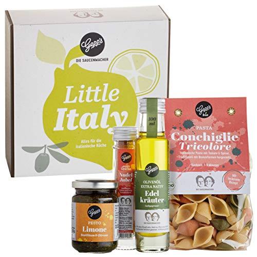 Gepp's Feinkost Little Italy Geschenkbox I Gefüllt mit hausgemachter BIO Pasta & feinsten...