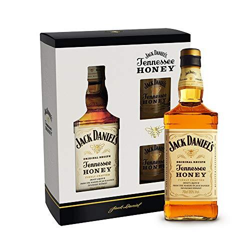 Jack Daniel's Tennessee Honey Set - Geschenkkarton inkl. Gläser | Ideal zum Verschenken (1 x 0,7...